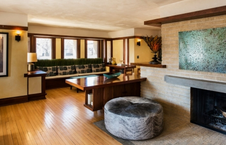 emil bach house living & dining room
