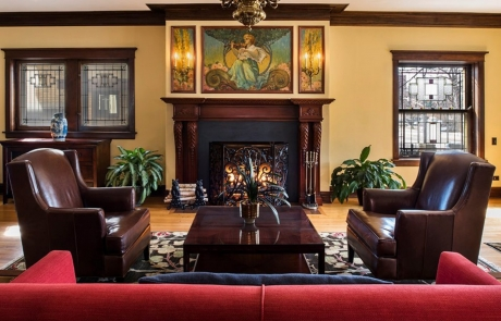 lang house chicago fireplace