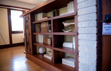 emil bach house book case