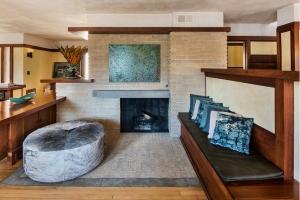 emil bach house fireplace