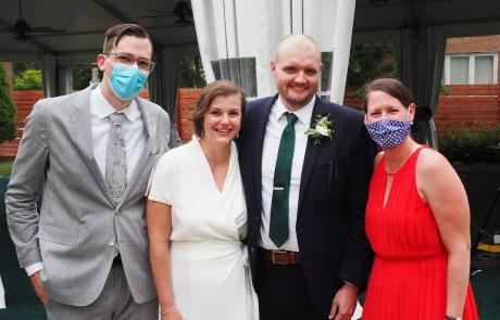 micro-wedding at emil bach house