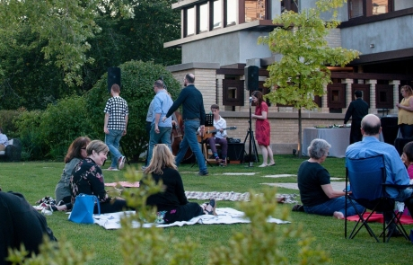 outdoor concert at emil bach house