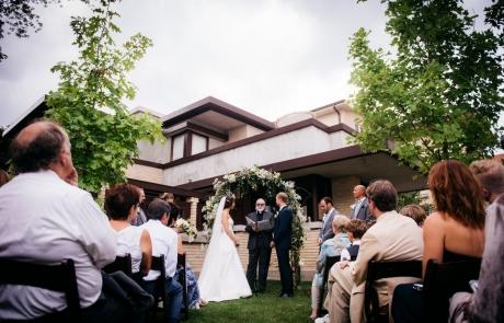 outdoor garden wedding at emil bach house